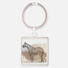 The Quarter Horse in Typography Keychains