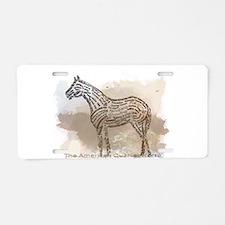The Quarter Horse in Typography Aluminum License P