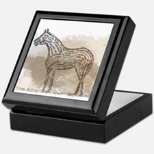 The Quarter Horse in Typography Keepsake Box