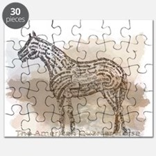 The Quarter Horse in Typography Puzzle