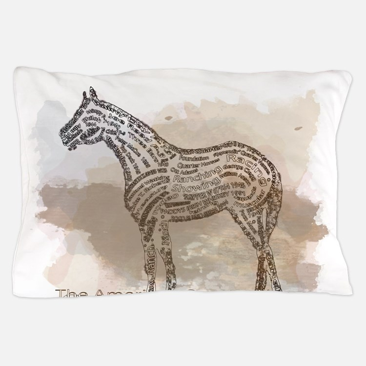 The Quarter Horse in Typography Pillow Case