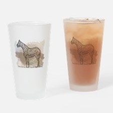 The Quarter Horse in Typography Drinking Glass