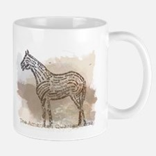 The Quarter Horse in Typography Mugs
