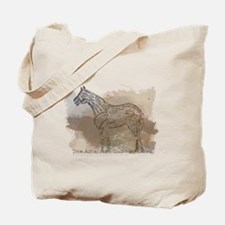 The Quarter Horse in Typography Tote Bag