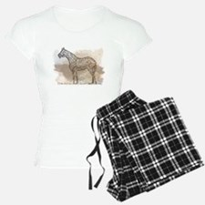 The Quarter Horse in Typography Pajamas