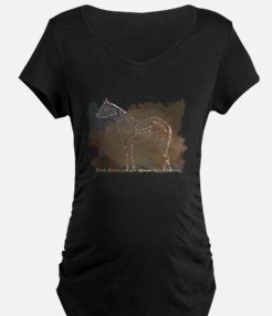 The Quarter Horse in Typography Maternity T-Shirt