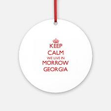 Keep calm we live in Morrow Georg Ornament (Round)