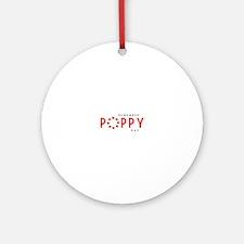 Poppy Ornament (Round)