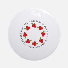 Celebrate our vets Ornament (Round)