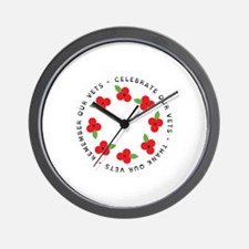Celebrate our vets Wall Clock