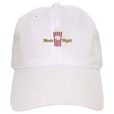 Movie Night Popcorn Baseball Baseball Cap
