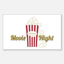 Movie Night Popcorn Decal