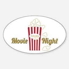 Movie Night Popcorn Bumper Stickers
