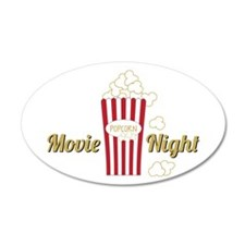 Movie Night Popcorn Wall Decal