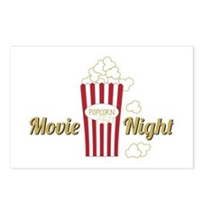 Movie Night Popcorn Postcards (Package of 8)