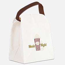 Movie Night Popcorn Canvas Lunch Bag