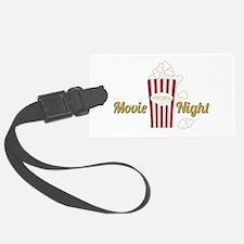 Movie Night Popcorn Luggage Tag