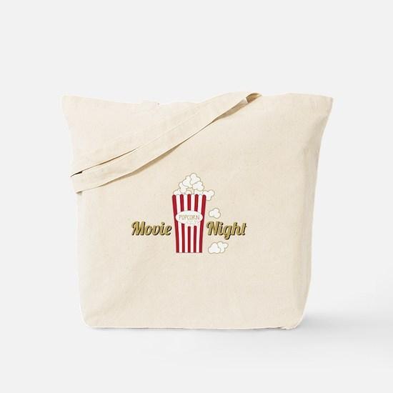 Movie Night Popcorn Tote Bag