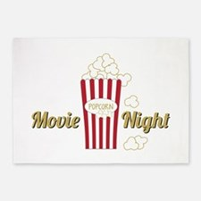 Movie Night Popcorn 5'x7'Area Rug