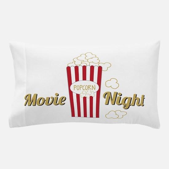 Movie Night Popcorn Pillow Case