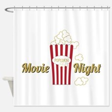Movie Night Popcorn Shower Curtain