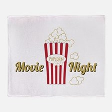 Movie Night Popcorn Throw Blanket