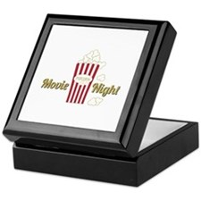 Movie Night Popcorn Keepsake Box