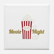 Movie Night Popcorn Tile Coaster