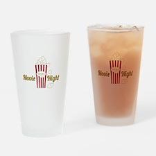 Movie Night Popcorn Drinking Glass