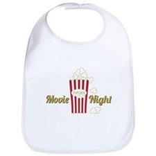 Movie Night Popcorn Bib
