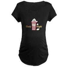Movie Night Popcorn Maternity T-Shirt