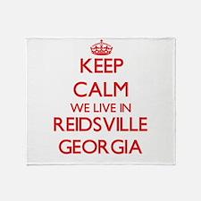 Keep calm we live in Reidsville Geor Throw Blanket