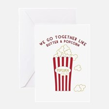 Butter and Popcorn Greeting Cards