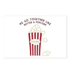 Butter and Popcorn Postcards (Package of 8)