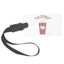 Butter and Popcorn Luggage Tag