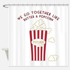 Butter and Popcorn Shower Curtain