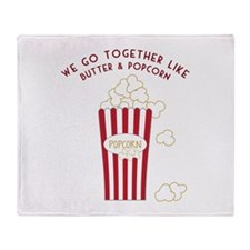 Butter and Popcorn Throw Blanket