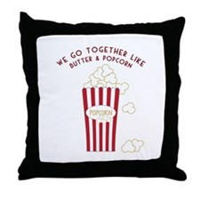 Butter and Popcorn Throw Pillow