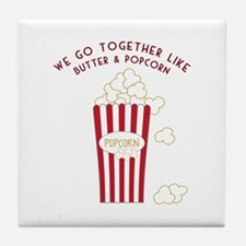 Butter and Popcorn Tile Coaster