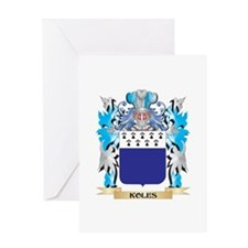 Koles Coat of Arms - Family Crest Greeting Cards