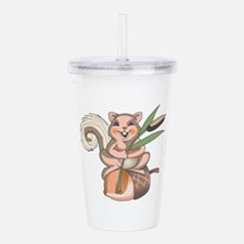 SQUIRREL ON ACORN Acrylic Double-wall Tumbler