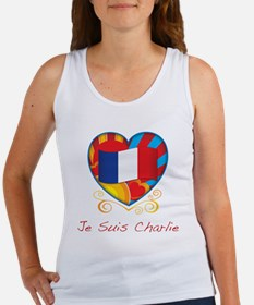 French Heart Je Suis Charlie Tank Top