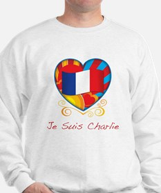 French Heart Je Suis Charlie Sweatshirt