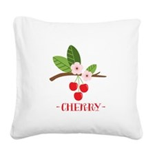 Cherry Square Canvas Pillow