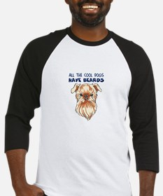 COOL DOGS HAVE BEARDS Baseball Jersey