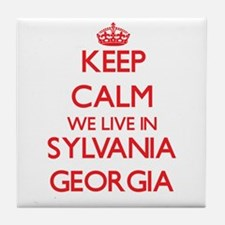 Keep calm we live in Sylvania Georgia Tile Coaster