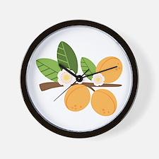 Apricot Blossom Fruit Tree Branch Wall Clock