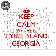 Keep calm we live in Tybee Island Georgia Puzzle