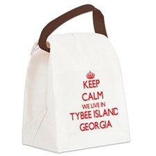 Keep calm we live in Tybee Island Canvas Lunch Bag