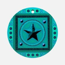 Turquoise Southwest Star Ornament (Round)